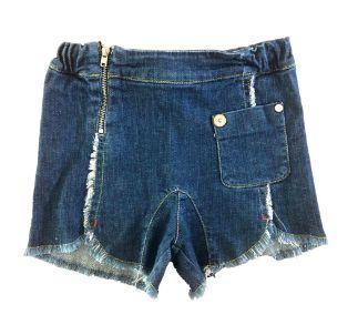 Shorts Jeans Green Infantil Desfiado