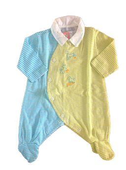 Macacão Green Azul e Amarelo Listrado