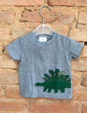 Camiseta Carter's Infantil Cinza Dinossauro