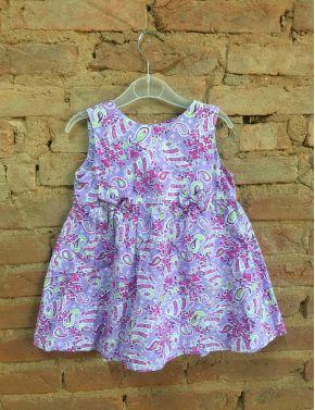 Vestido Gaia Infantil Lilás Estampado