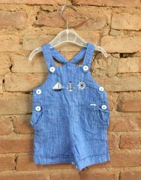 Jardineira Roama Infantil Azul Claro
