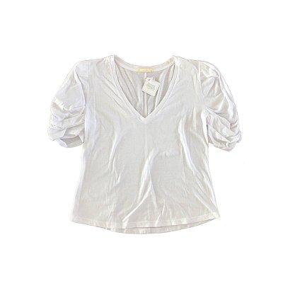 Camiseta MURAU Feminina Branca com Manga Bufante