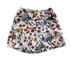 Shorts Saia Zara Kids Branca com Estampa de Flores