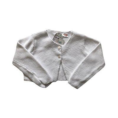 Casaquinho Zara Tricot Branco Curto