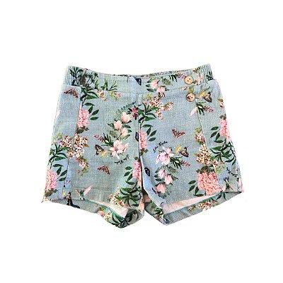 Shorts Lilica Ripilica Azul Florido