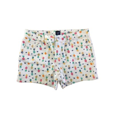 Shorts Gap Branco Abacaxis Coloridos