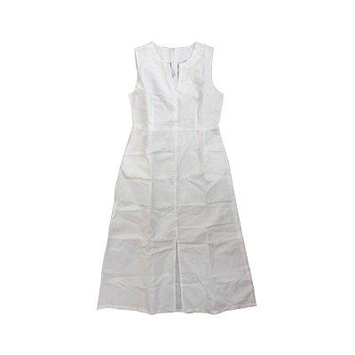 Vestido Feminino Branco Midi em Linho