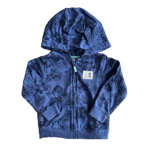 Moletom Carter's Infantil Azul Marinho com Flores