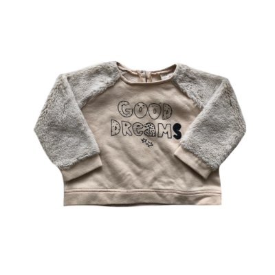 Moletom Zara Baby Girl Bege com Pêlo Good Dreams