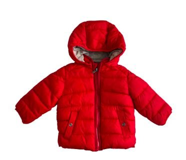 Casaco Nylon Zara Infantil Vermelho