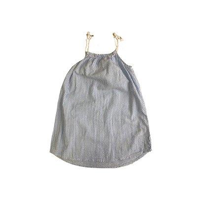 Vestido H&M Infantil Listrado Azul e Branco