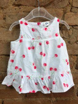 Bata OshKosh Infantil Branca com Cerejas Vermelhas