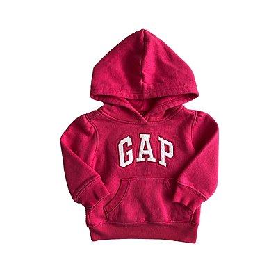 Moletom Baby Gap Infantil Rosa com Capuz