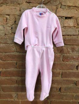 Pijama Tip Top Infantil em Plush Rosa