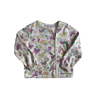 Casaco Zara Infantil Lilás Flores