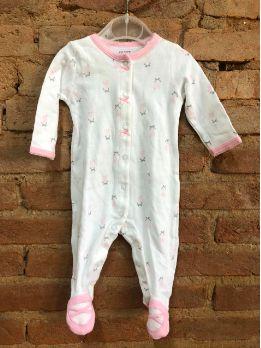 Macacão Carter's Infantil Branco com Sapatilhas