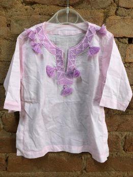 Vestido Potterry Barn Infantil Rosa e Lilás