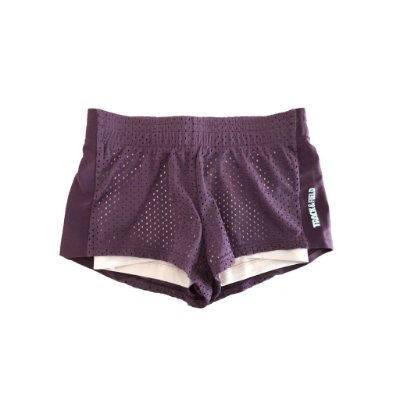 Shorts Track&Field Infantil Roxo com Bermuda