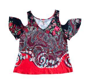 Blusa Cof Cof Feminina Estampada com Recorte no Ombro