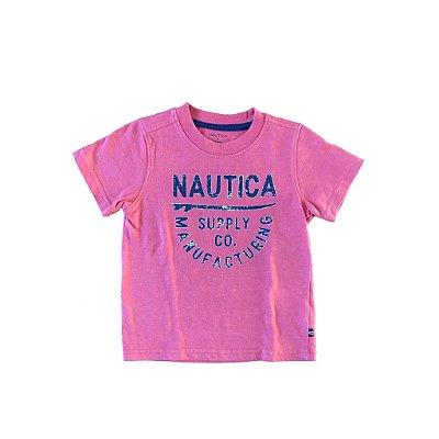 Blusa Nautica Infantil Vermelha e Azul