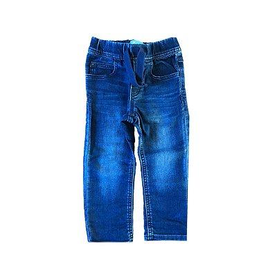 Calça Baby Gap Infantil Jeans Escuro com elástico