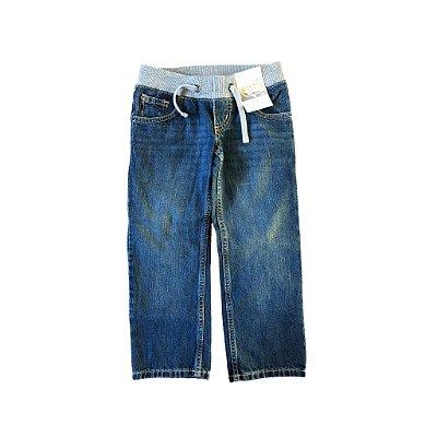 Calça Route 66 Jeans com elástico e etiqueta