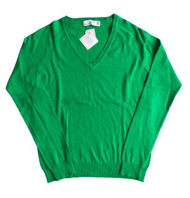Malha Zara Feminina Verde Decote V