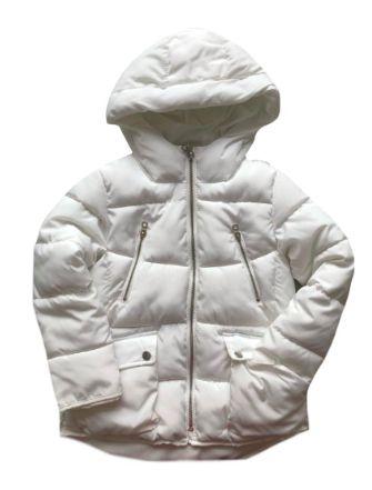 Casaco Zara Infantil Branco Nylon