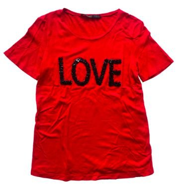 Camiseta ANIMALE Feminina Vermelha Love