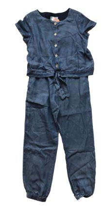 Macacão Chicco Infantil Jeans Molinho