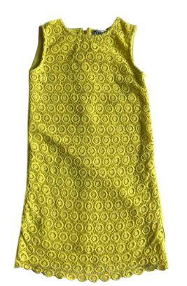 Vestido Chicco Infantil Amarelo com Renda na Frente