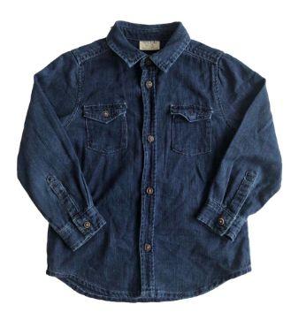 Camisa Zara Infantil Jeans Molinho