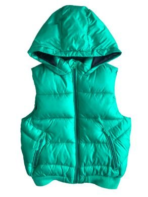 Colete Zara Infantil Verde em Nylon