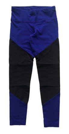 Legging Adidas Infantil Azul e Preta
