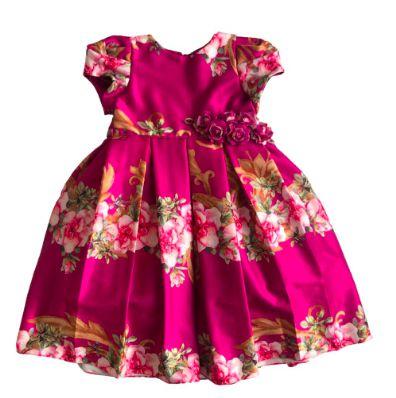 Vestido de Festa Kopela Infantil Pink Florido