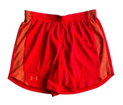 Shorts Under Armour Feminino Vermelho Fluor