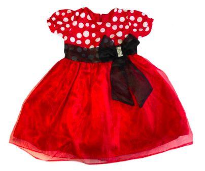 Vestido Infantil Vermelho Poá