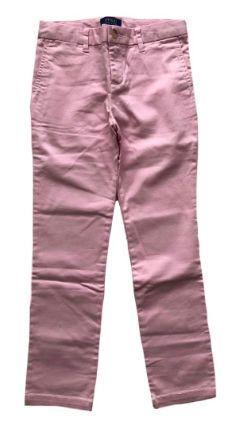 Calça Ralph Lauren Infantil Rosa Sarja