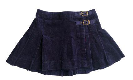 Saia Ralph Lauren Infantil Azul Marinho Veludo