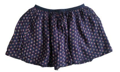 Saia Ralph Lauren Infantil Azul Marinho com Florzinhas