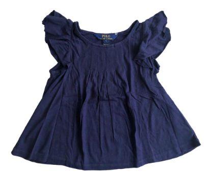 Bata Ralph Lauren Infantil Azul Marinho Malha