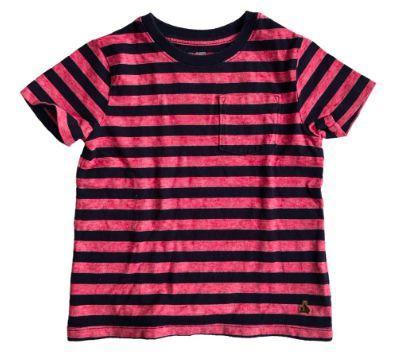 Camiseta baby GAP Listrada Vermelha e Azul Marinho