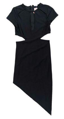 Vestido Tovah Preto com Recortes