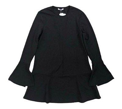 Vestido Zara Preto Manga Longa