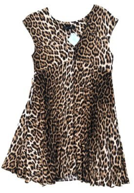 Vestido Zara Onça Decotado