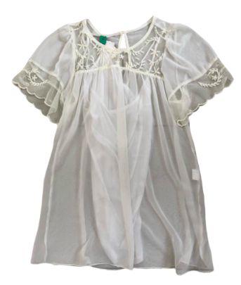 Vestido FARM Off White Transparente com Forro