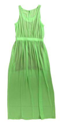 Vestido Shoulder Verde Longo de Crepe