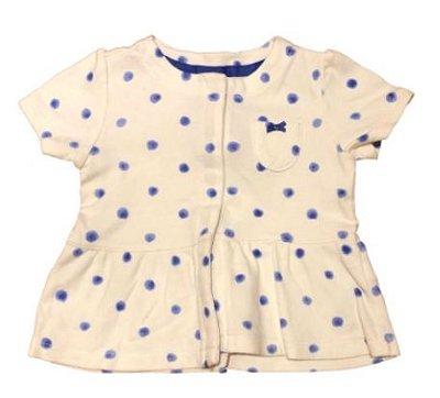 Blusa CARTER'S Infantil Branca e Azul