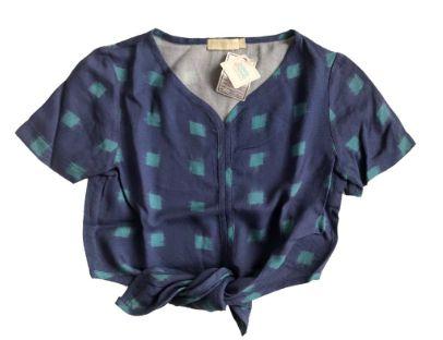 Blusa CRIS BARROS Infantil Azul de Amarrar