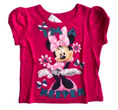 Camiseta Disney Infantil Rosa Minnie